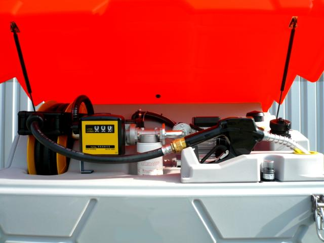 Station service gasoil fuel gnr de 1000l 2500l for Cuve fuel exterieur